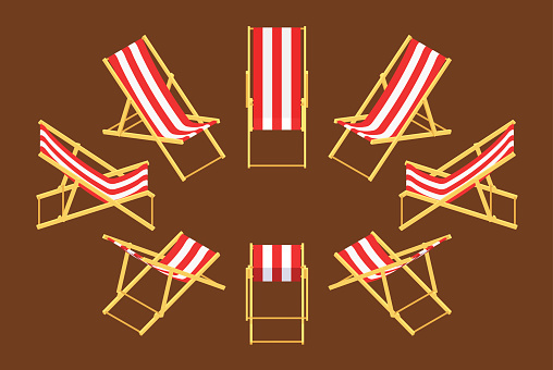 Isometric Deck Chair Stock Illustration - Download Image Now