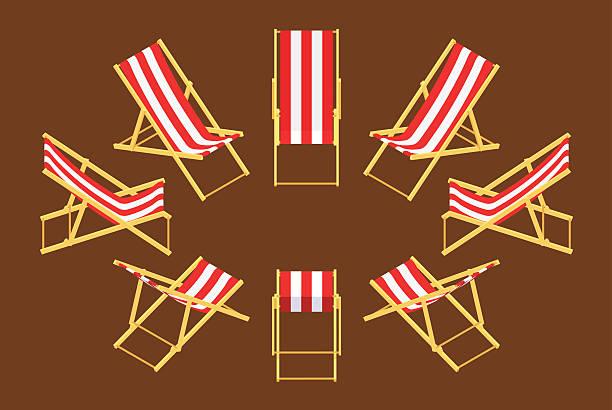 illustrations, cliparts, dessins animés et icônes de isométrique chaise longue - transat