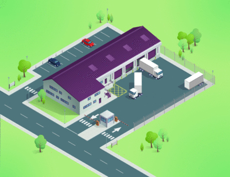 Isometric Delivery Depot