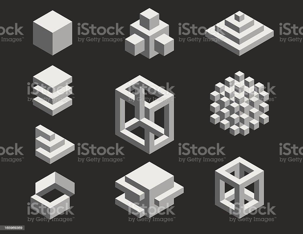 Isometric Designs vector art illustration