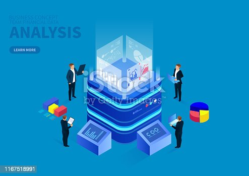 Isometric digital monitoring and infographic analysis