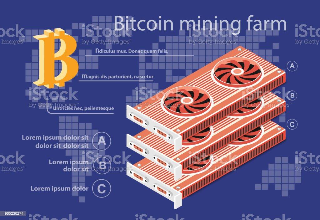 Isometric electronic bitcoin isometric electronic bitcoin - stockowe grafiki wektorowe i więcej obrazów bitcoin royalty-free