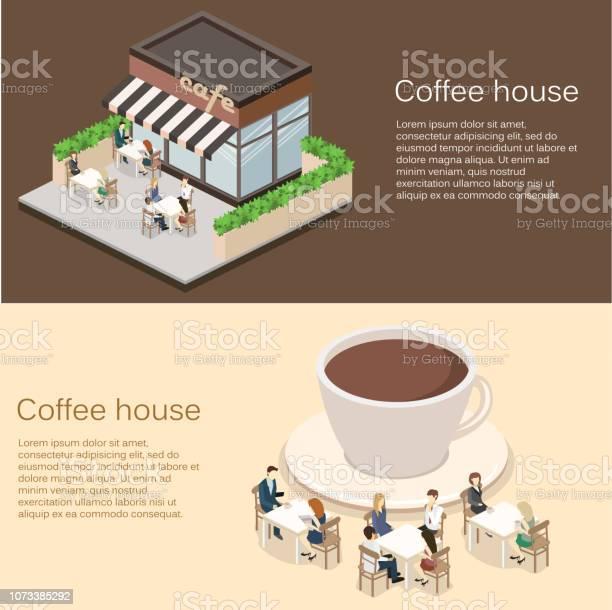 Isometric exterior of coffee shop or sweetshop vector id1073385292?b=1&k=6&m=1073385292&s=612x612&h=eeavg4p4bstqsrse5kndopzxdxpxnl8do1 r4129waq=