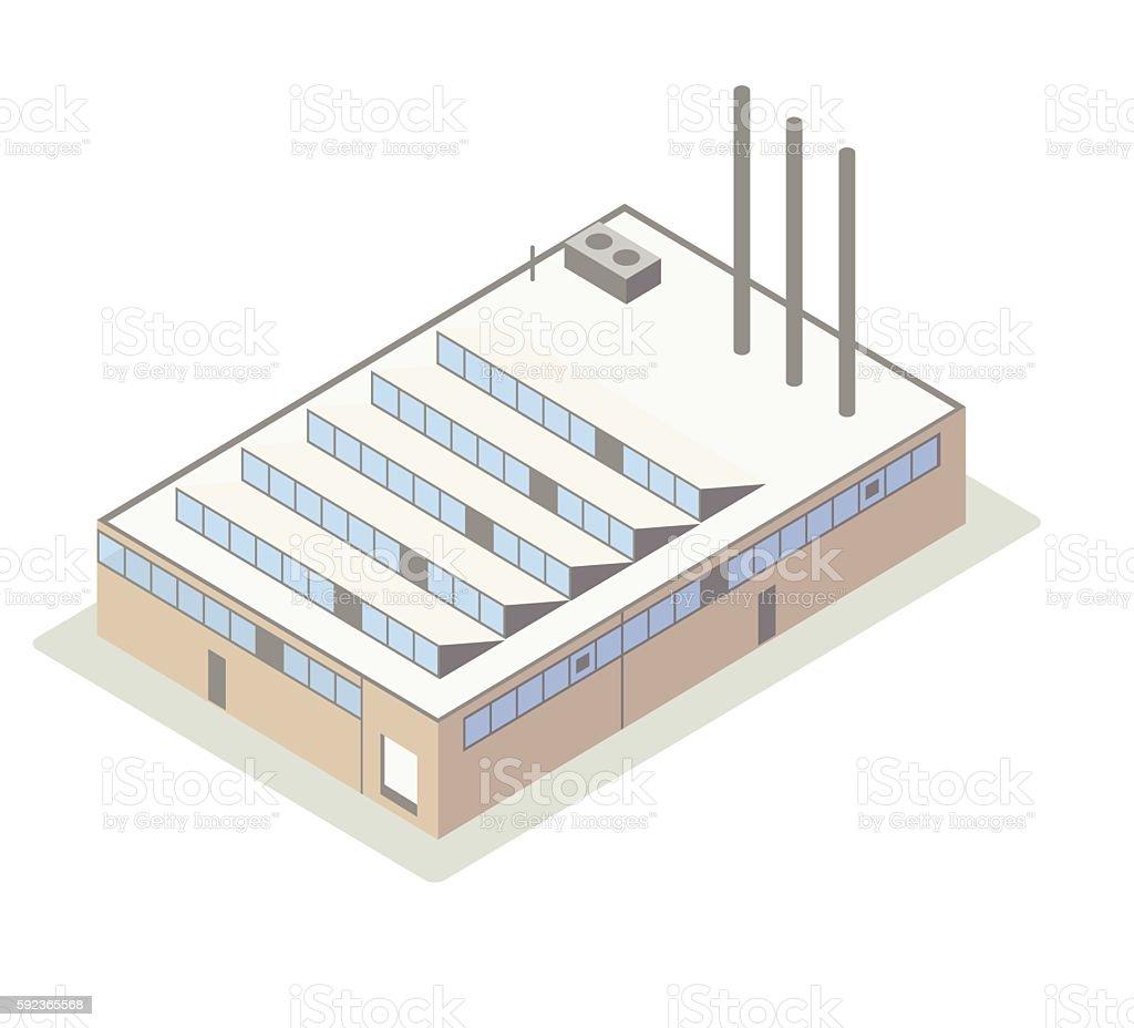 Isometric factory illustration vector art illustration