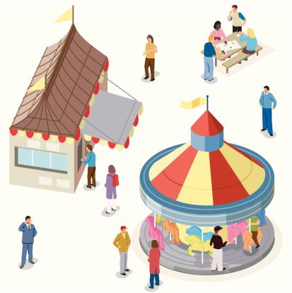 Isometric Fairground