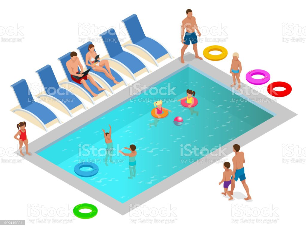 Royalty Free Public Swimming Pool Clip Art Vector Images