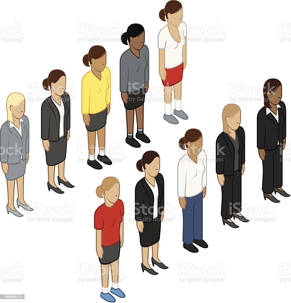 Isométricos hembras ilustración de isométricos hembras y más banco de imágenes de adulto libre de derechos