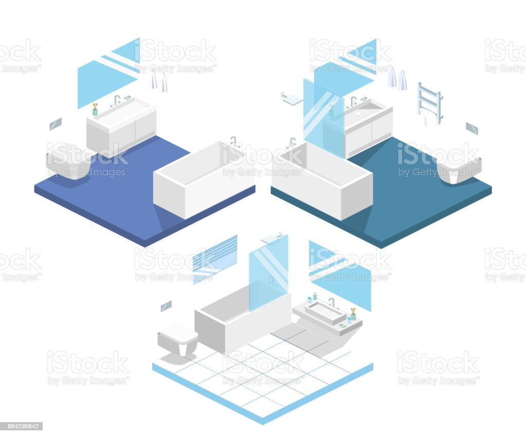 Isometric flat 3D concept vector interior of bathroom inside royalty-free isometric flat 3d concept vector interior of bathroom inside stock vector art & more images of abstract