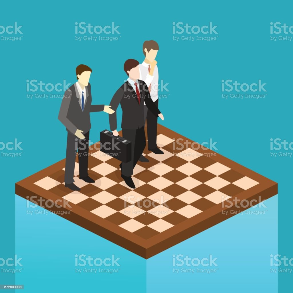 Isometric flat 3D isolated concept vector orporate business market...