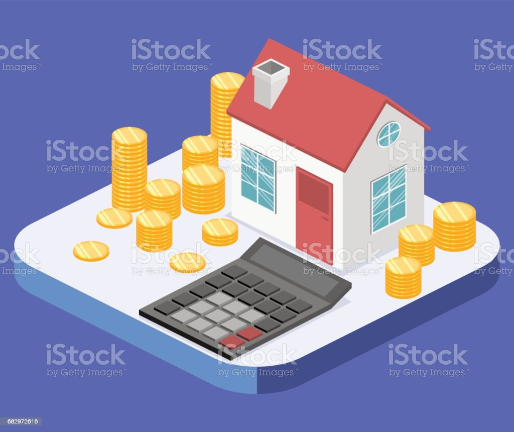 Isometric flat 3D vector House and real estate money investment. royalty-free isometric flat 3d vector house and real estate money investment stock vector art & more images of agreement