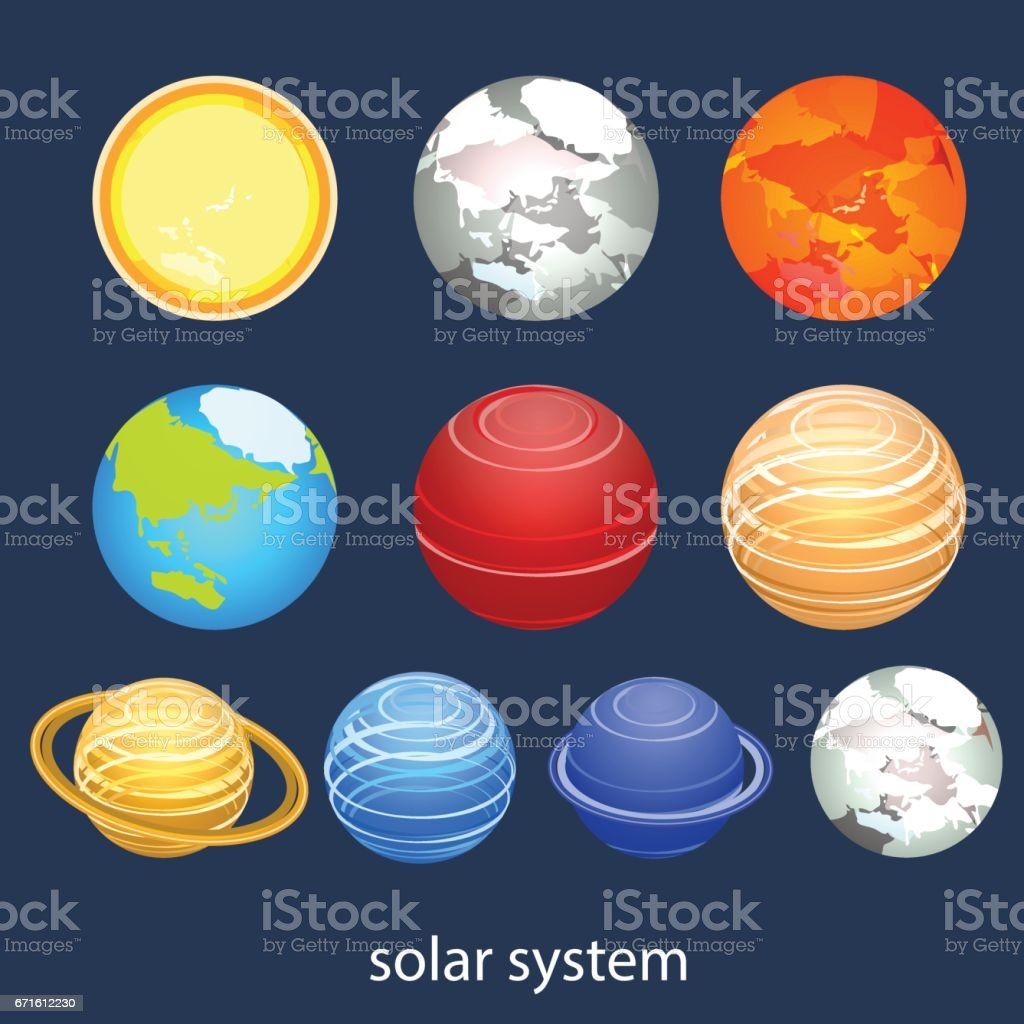 Isometric flat 3d vector solar system showing planets around sun isometric flat 3d vector solar system showing planets around sun isometric flat 3d vector solar system ccuart Image collections