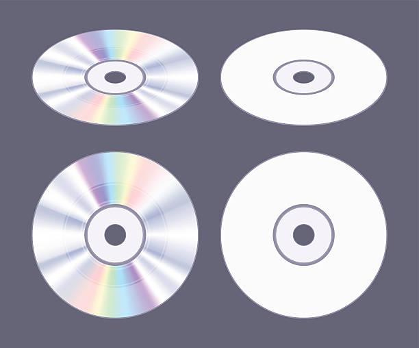ilustrações, clipart, desenhos animados e ícones de isometric flat cd-dvd disk - cd