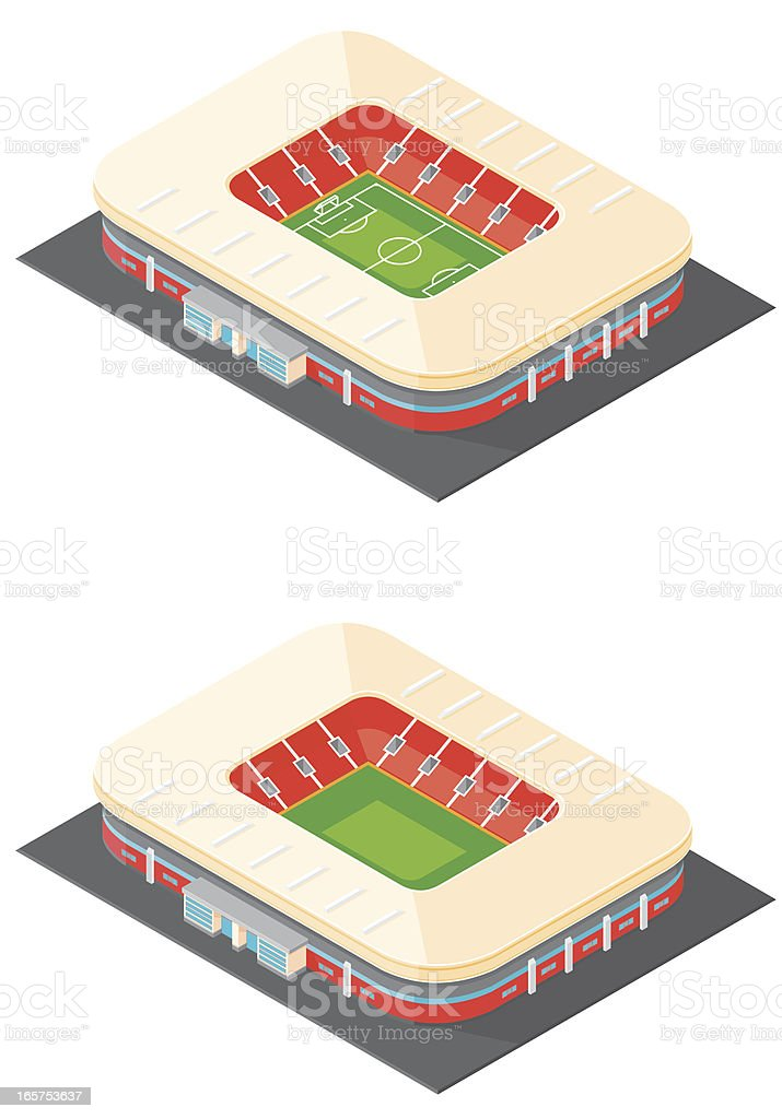 Isometric football Stadium royalty-free stock vector art
