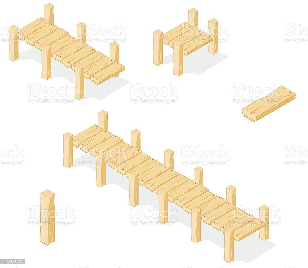 Isometric Footbridge. vector art illustration
