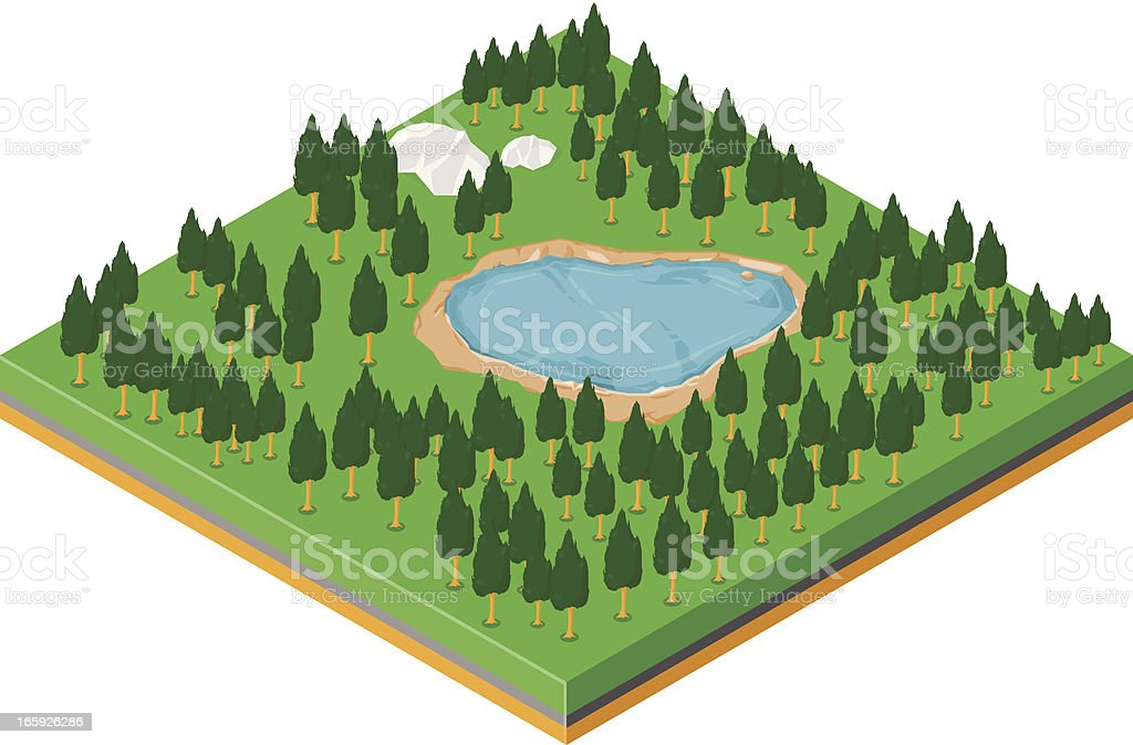 Isometric Forest royalty-free isometric forest stock vector art & more images of cut out