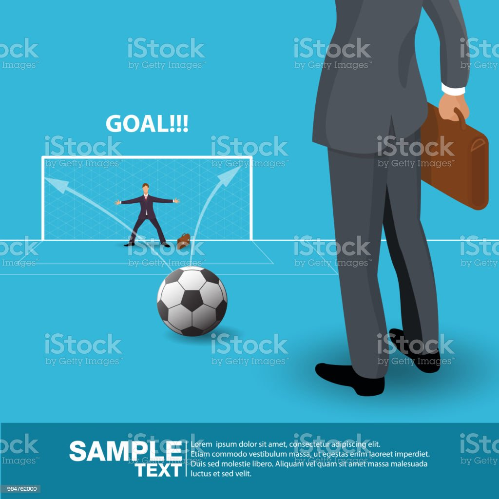 Isometric future Business Leader Concept Business Man Stand on football field. Investor trader future vision Individual success.Vector illustration. royalty-free isometric future business leader concept business man stand on football field investor trader future vision individual successvector illustration stock vector art & more images of abstract