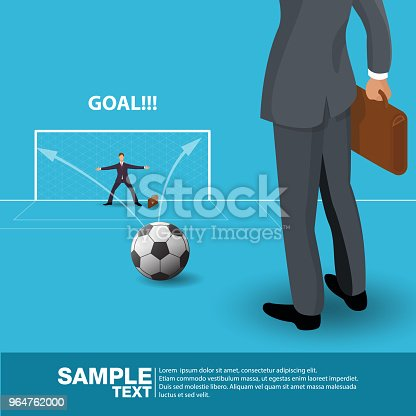 Isometric Future Business Leader Concept Business Man Stand On Football Field Investor Trader Future Vision Individual Successvector Illustration Stock Vector Art & More Images of Abstract