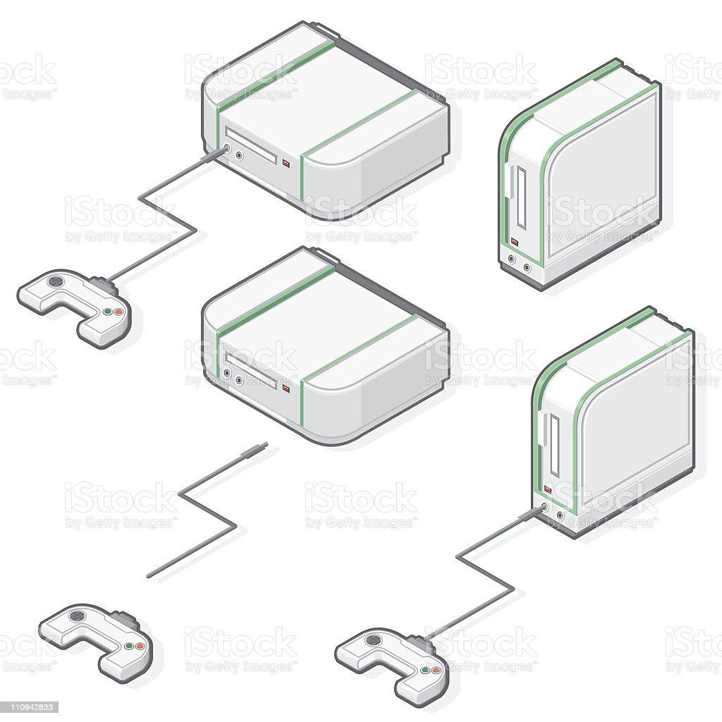 Isometric Games Console vector art illustration