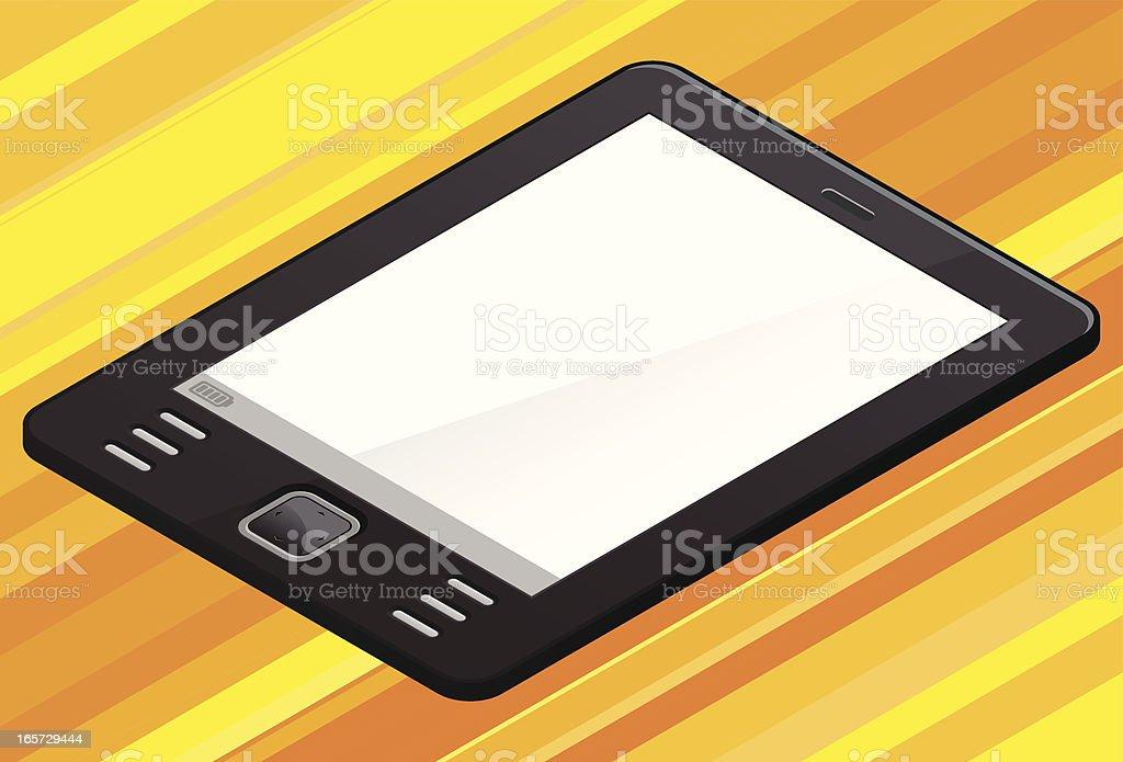 isometric generic ebook reader