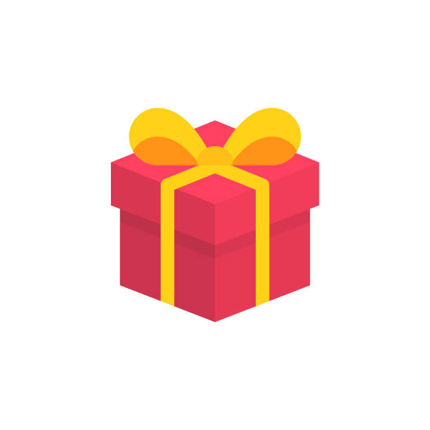 isometric gift flat icon. pixel perfect. for mobile and web. - gift stock illustrations