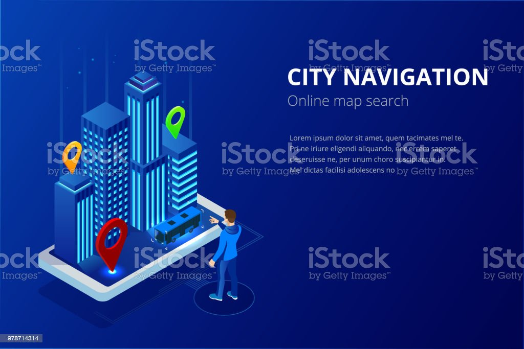 Isometric Gps Satellite Navigation Web Banner For Travel ... on internet map art, internet email, internet health, internet web app, internet map store, internet phone app, internet map history,