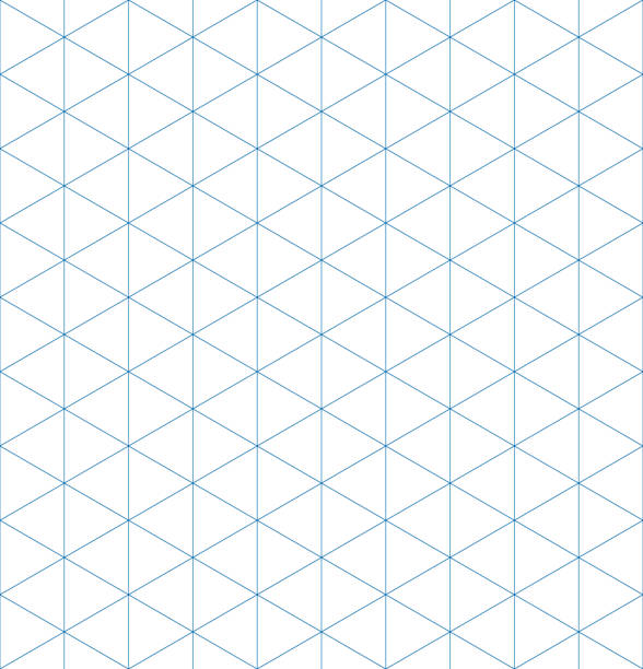 Isometric graph paper background. Seamless pattern. Vector illustration Isometric graph paper background. Seamless pattern. Vector illustration. triangle shape stock illustrations