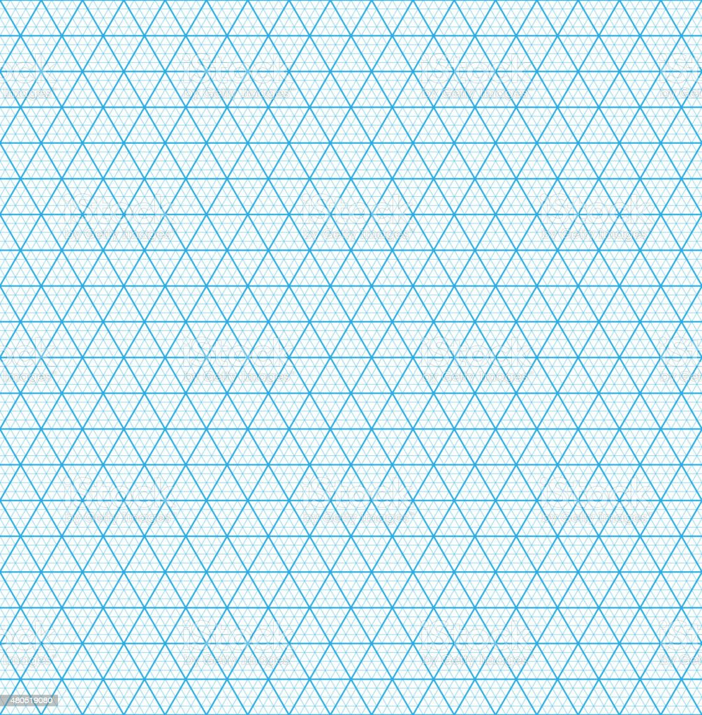 isometric grid paper seamless pattern stock vector art more images
