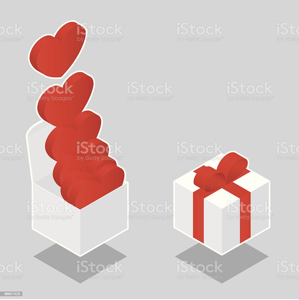 Isometric hearts in box royalty-free isometric hearts in box stock vector art & more images of backgrounds