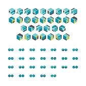 Isometric Hexagonal Blocky Letters