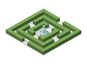 Isometric High Quality City Element with on White Background