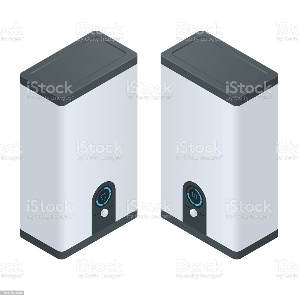 Isometric Home electric heating boiler – Vektorgrafik