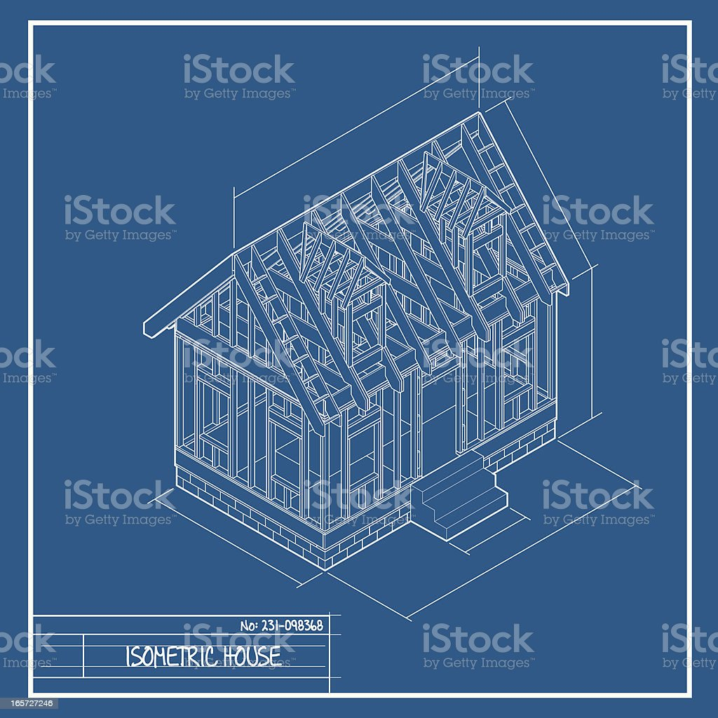 Isometric house blueprint stock vector art more images of isometric house blueprint royalty free isometric house blueprint stock vector art amp more images malvernweather Images
