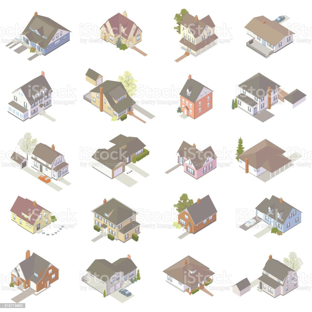 Isometric House Icons royalty-free isometric house icons stock vector art & more images of building exterior