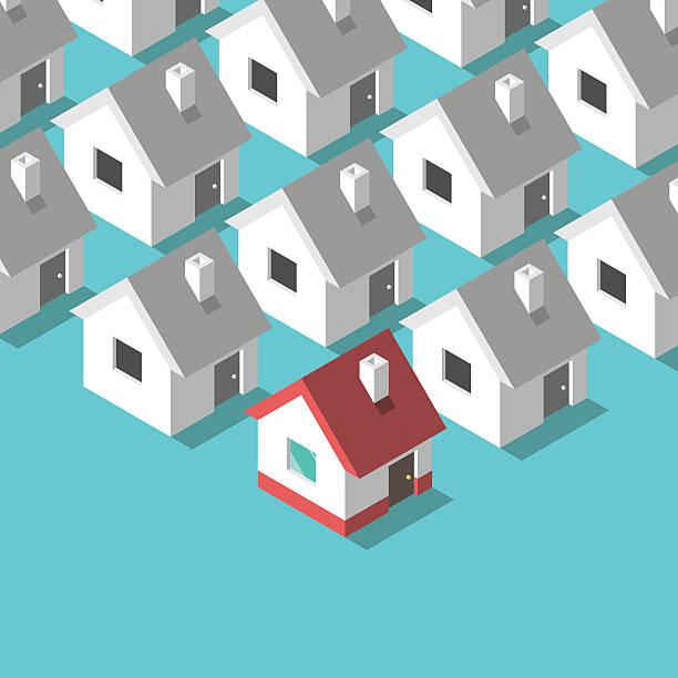 bildbanksillustrationer, clip art samt tecknat material och ikoner med isometric houses, home concept - stor grupp av objekt