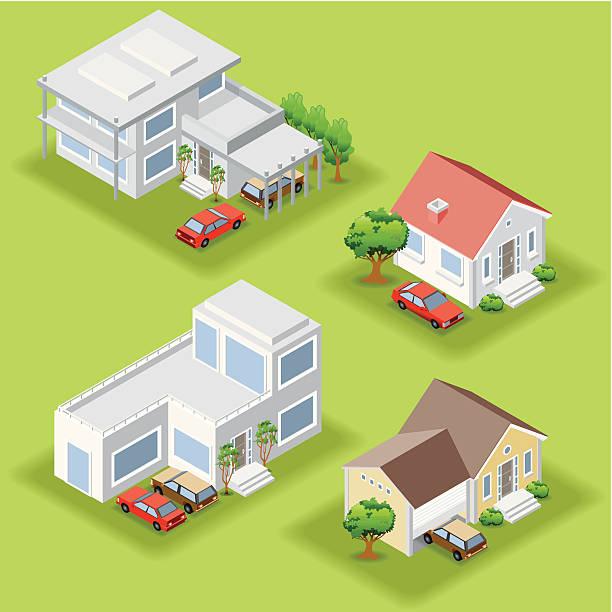 ilustraciones, imágenes clip art, dibujos animados e iconos de stock de isométricos casas - nueva casa