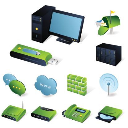 Isometric icons | Network