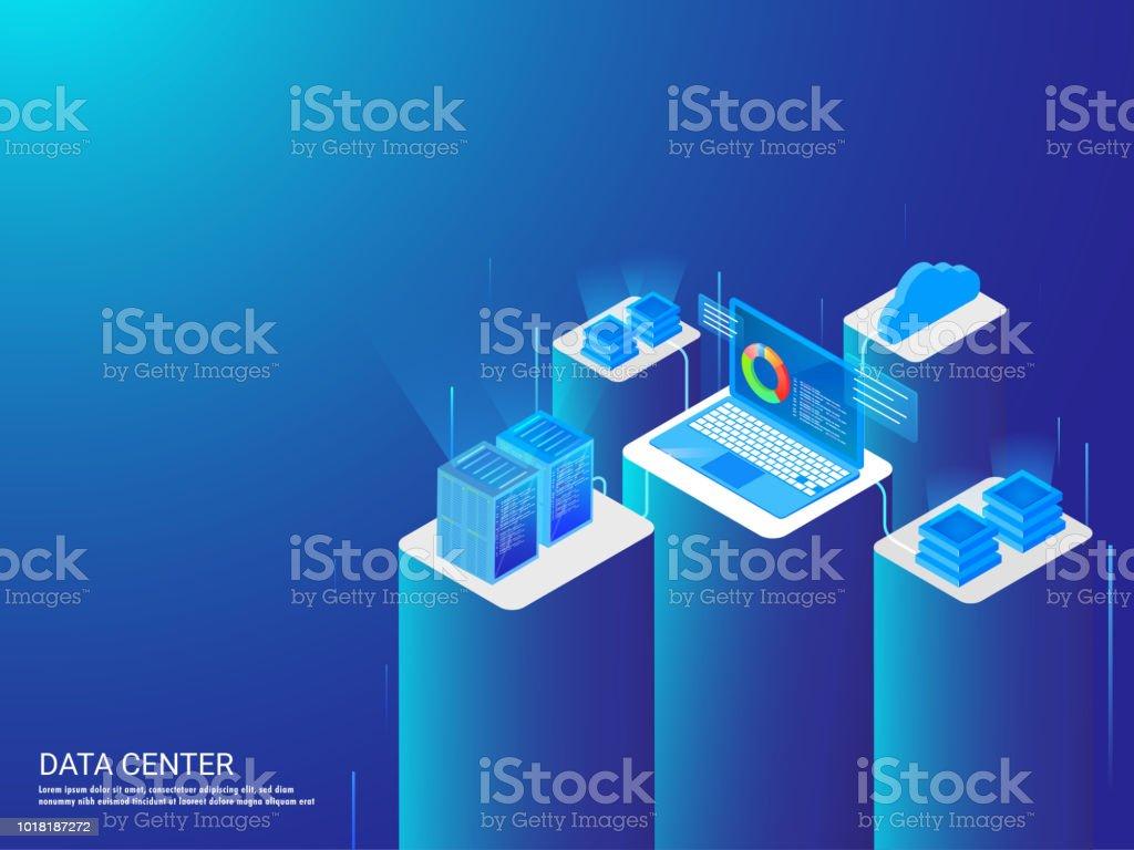 Ilustración de Isométrico Ilustración De Laptop Había Conectado Con ...
