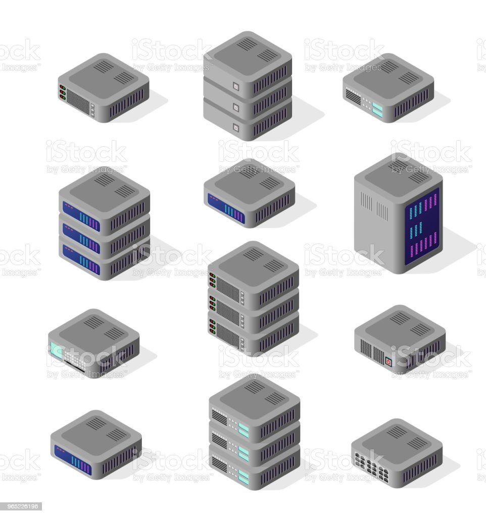 Isometric illustration of network isometric illustration of network - stockowe grafiki wektorowe i więcej obrazów abstrakcja royalty-free