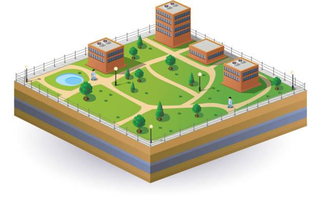 изометрические изображение - иллюстрации на тему архитектура stock illustrations