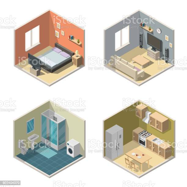 Isometric interior vector illustration modern set of bathroom kitchen vector id922404070?b=1&k=6&m=922404070&s=612x612&h=lsrcpseabujufsm0uh7vqo579mooknyhw8yckxqptzk=