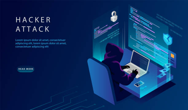 Isometric Internet And Personal Data Hacker Attack Concept. Website Landing Page. The Hacker at The Computer Trying To Hack Security. Credit Card, Bank Account Hacking. Web Page Vector Illustration Isometric Internet And Personal Data Hacker Attack Concept. Website Landing Page. The Hacker at The Computer Trying To Hack Security. Credit Card, Bank Account Hacking. Web Page Vector Illustration. computer crime stock illustrations