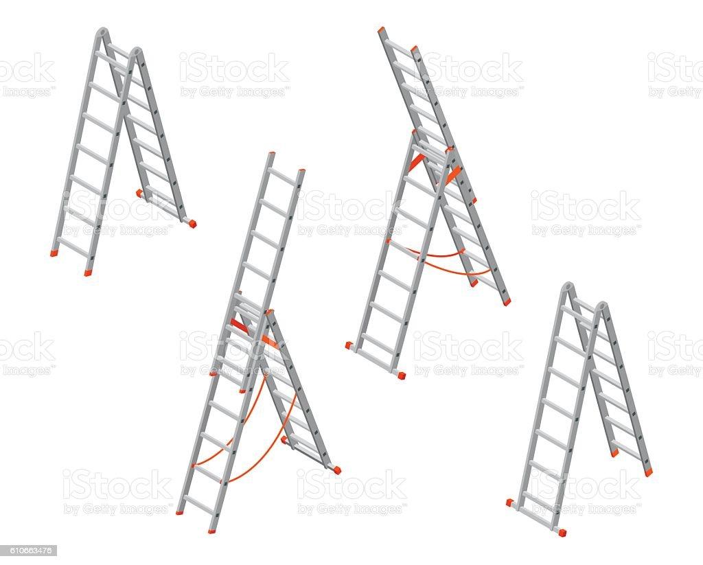 Isometric ladder. - アイコンのロイヤリティフリーベクトルアート