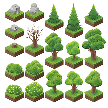 isometric landscape game asset 2