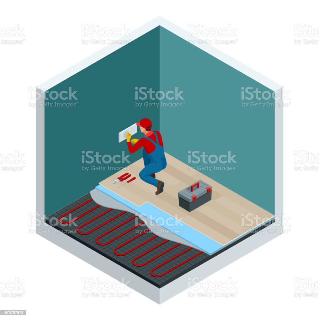 Isometric Layers Of Infrared Floor Heating System Under Laminate ...