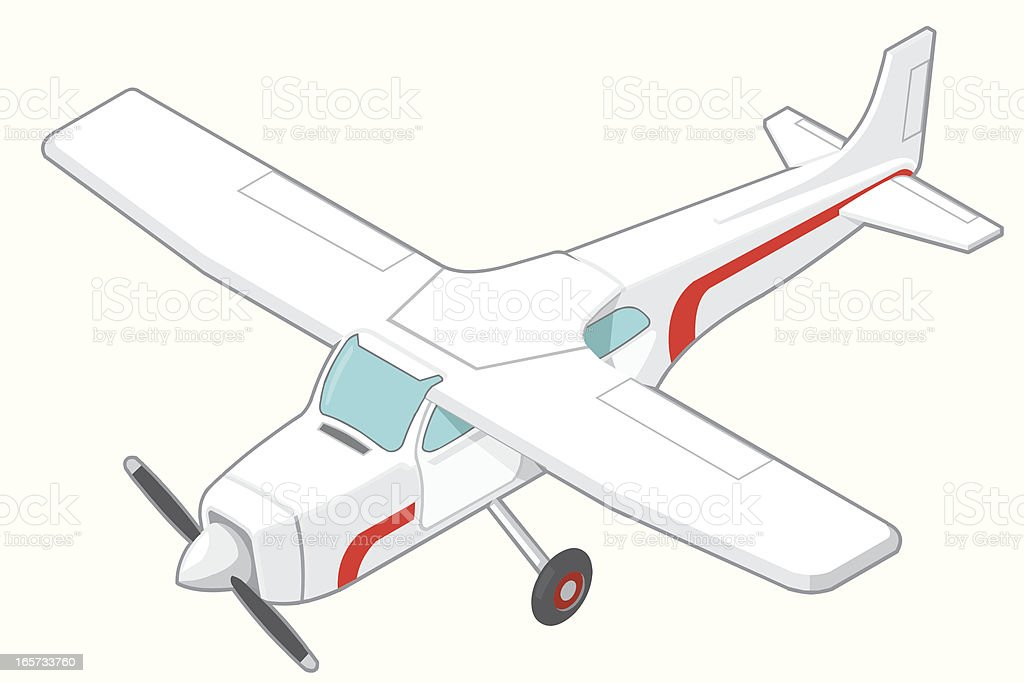 Isometric Light aircraft vector art illustration