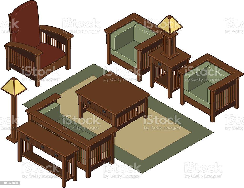 Isom Tricos Los Muebles De La Sala De Estar Arte Vectorial De  # Muebles Sala De Estar