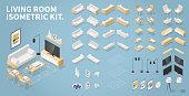 istock Isometric Living Room Kit 1018354668