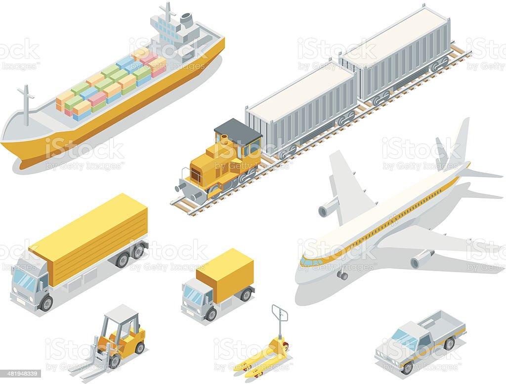 Isometric Logistic vector art illustration