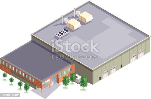 istock Isometric Manufacturing Plant 165911352