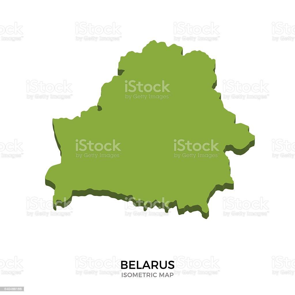 Isometric map of Belarus detailed vector illustration vector art illustration